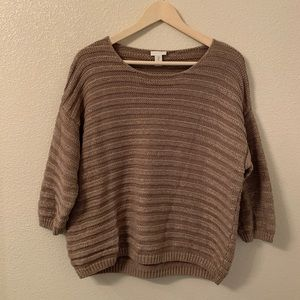 Chico's Brown Sweater with Shimmer